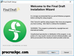 Final Draft Crack 11.1.4 Plus Torrent 2021 Download